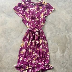 Dresses - Floral purple dress